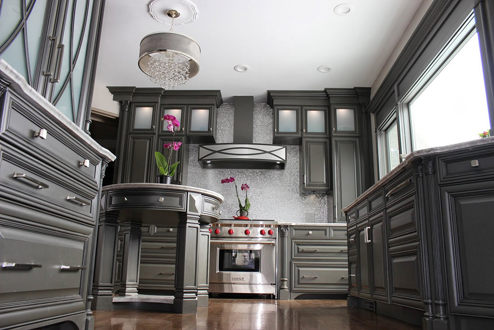 grey kitchen cabinetry
