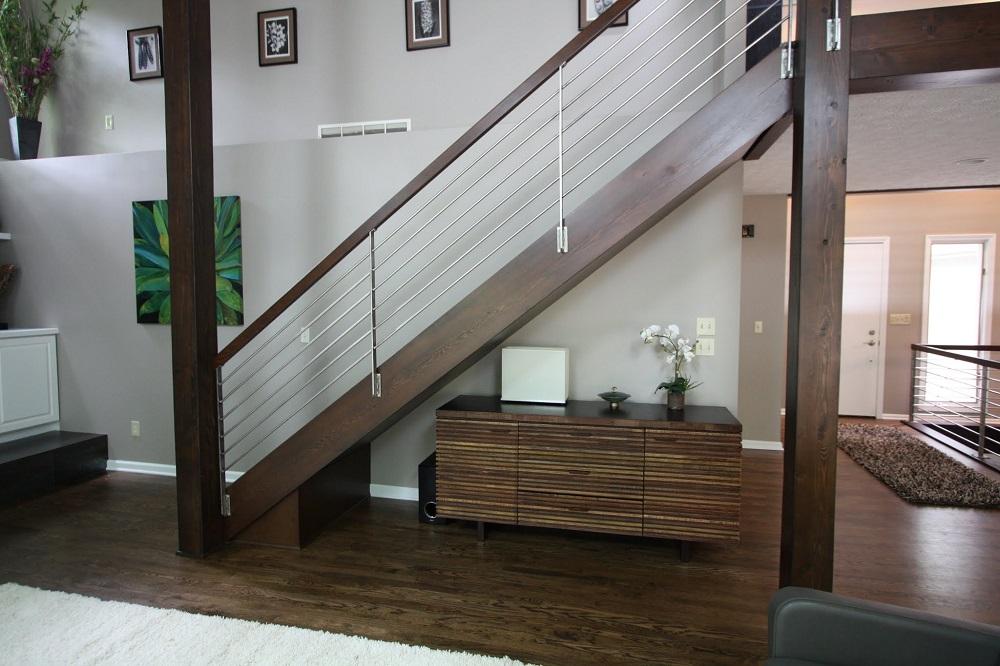 modern iron staircase