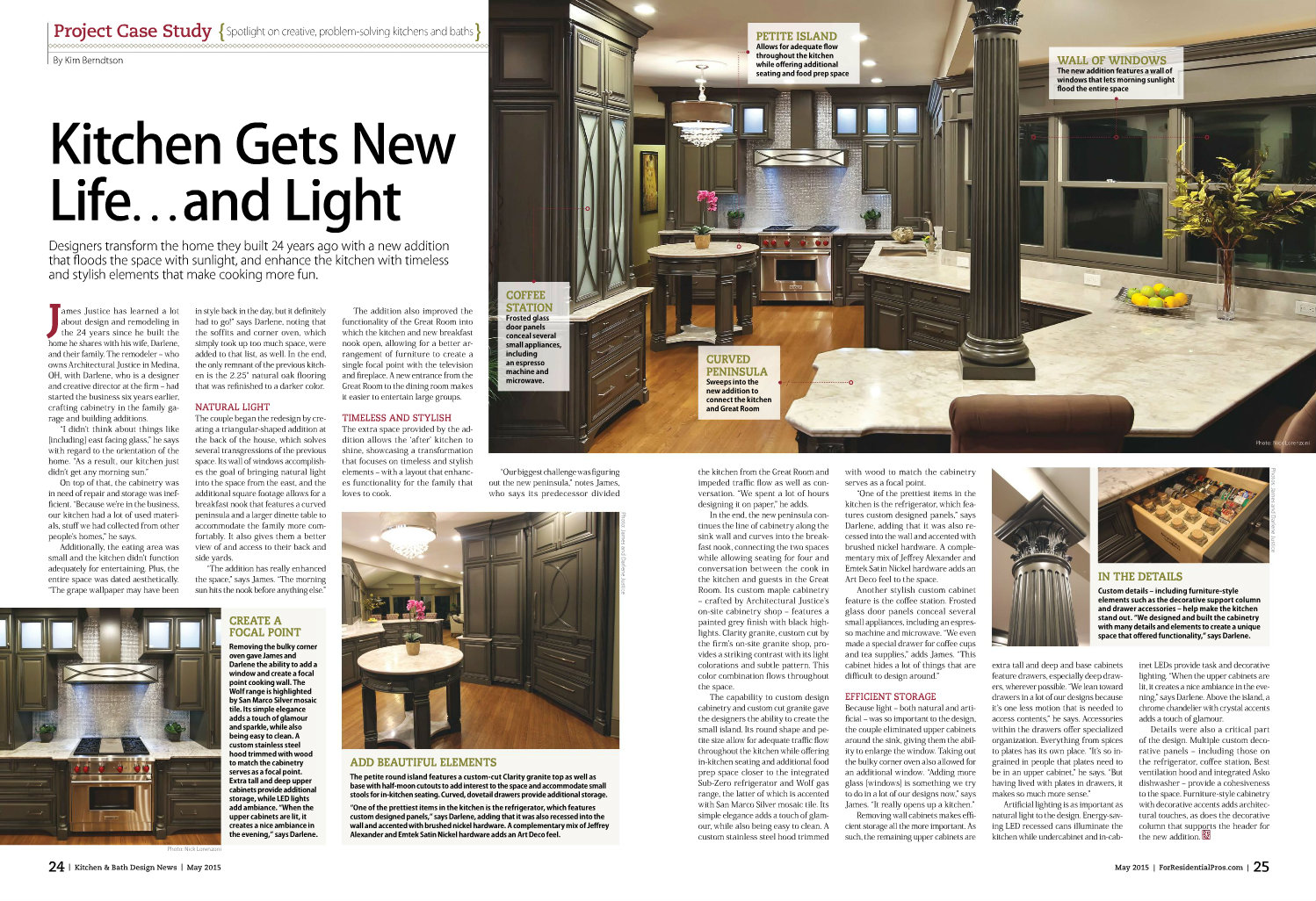Architectural Justice Featured In May 39 S Kitchen Bath