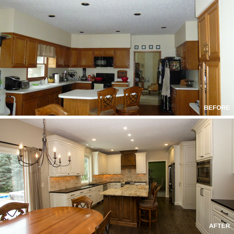 Traditional Kitchen Before and After