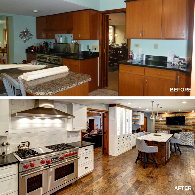 Transitional Kitchen Before and After
