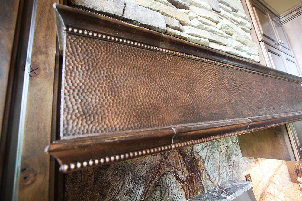 cast stone copper range hood