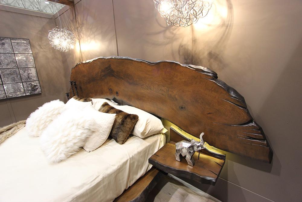 custom live edge bed frame