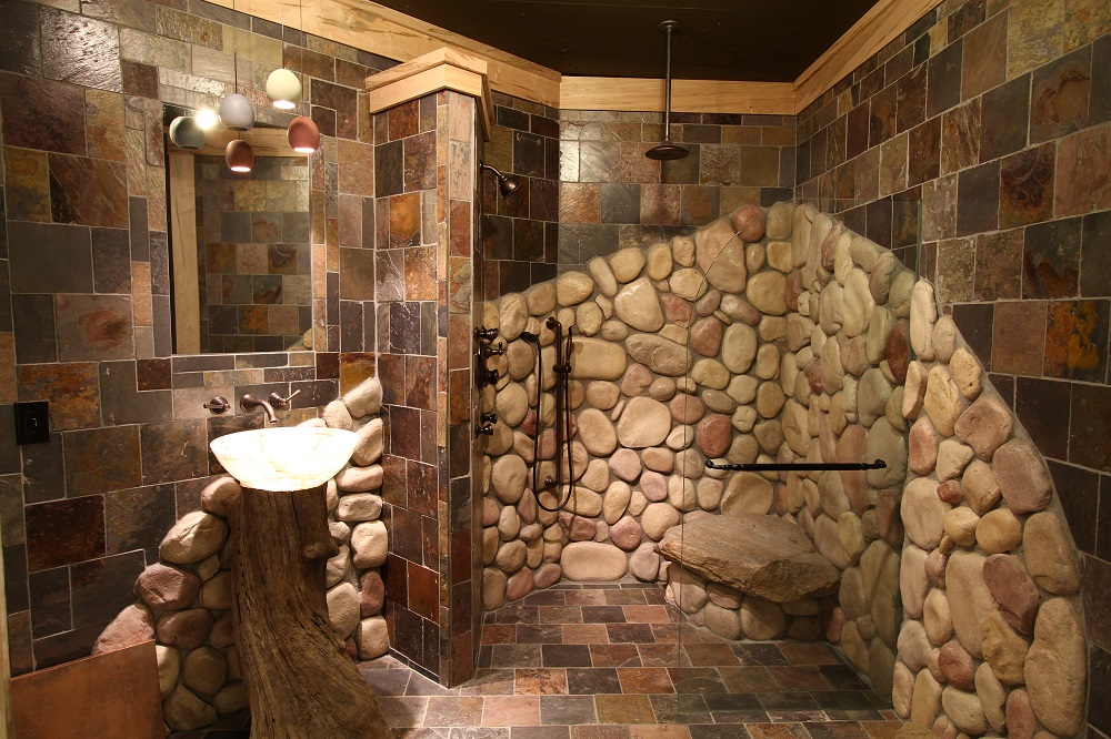 Showroom Stone Shower Architectural Justice