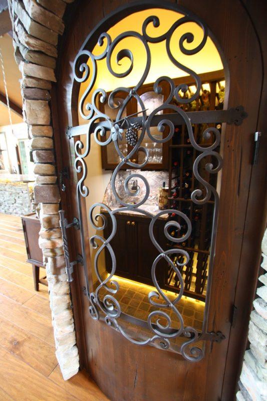 Wine Room Iron Door
