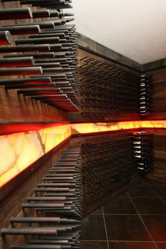 Metal Peg Wine Racking