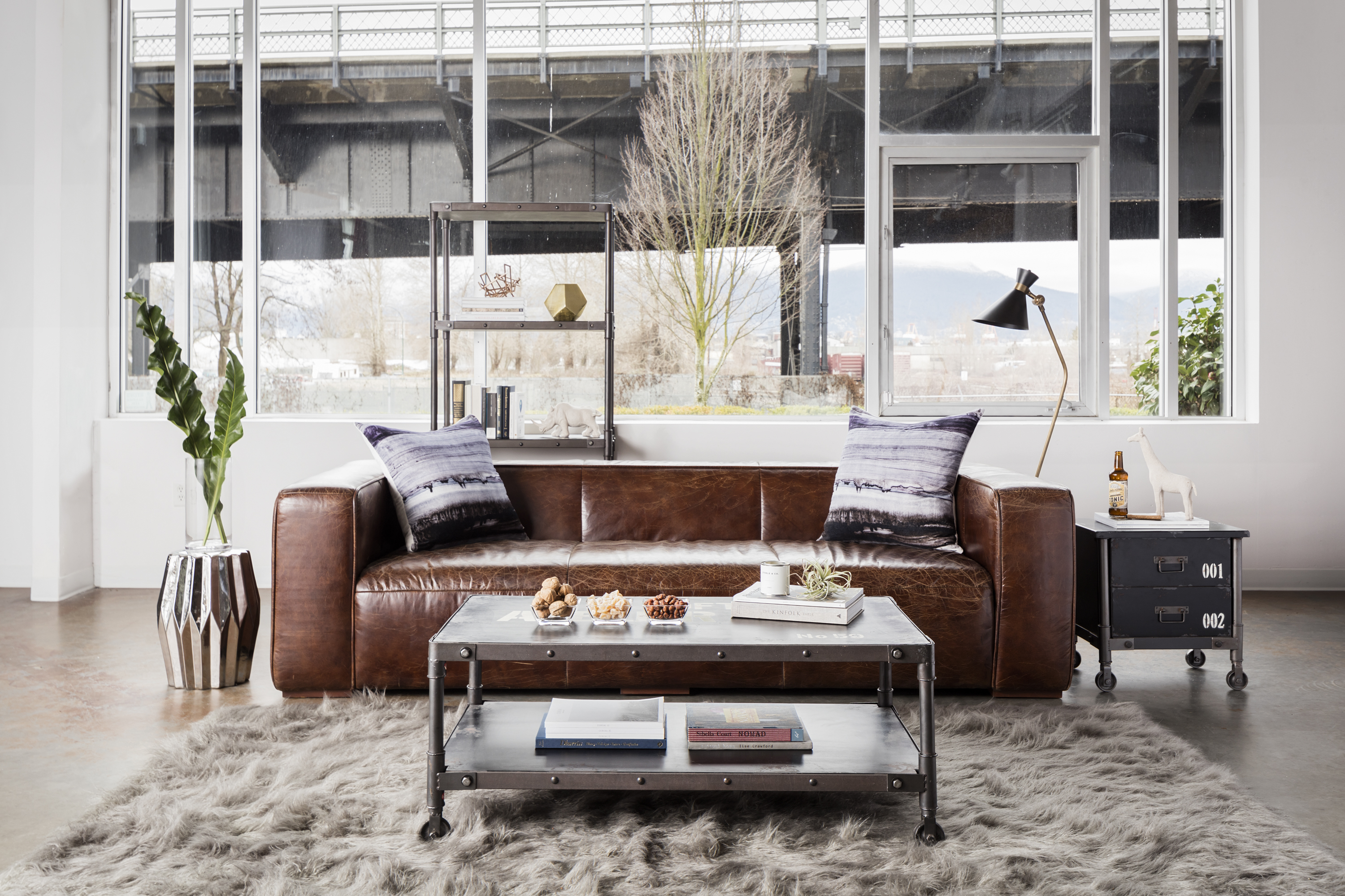 Industrial Modern Living Room - Architectural Justice