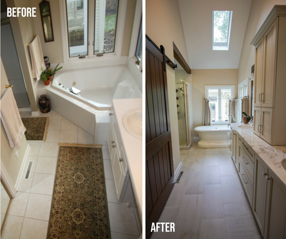 master bath before after