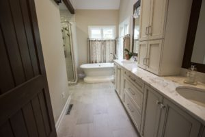 Eclectic Style in the Master Bathroom