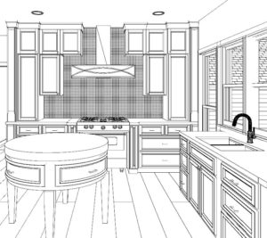Architectural Justice Kitchen Rendering